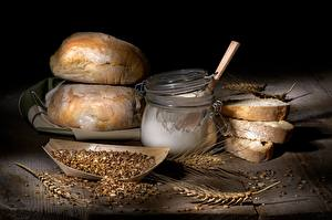 Hintergrundbilder Brot Mehl Weizen Weckglas Getreide das Essen
