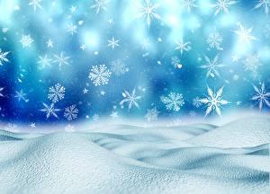 Bilder Neujahr Schneeflocken Schnee
