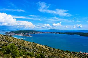 Fotos Kroatien Küste Seebrücke Bucht Trogir Natur