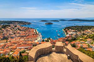 Photo Croatia Building Berth Coast Bay Hvar Cities