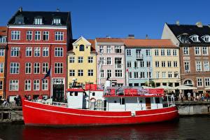 Picture Denmark Copenhagen Building Riverboat Berth Cities