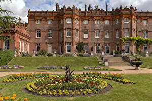 Image England Houses Mansion Stairway Lawn Hughenden Manor Cities