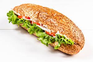 Picture Fast food Sandwich Buns Closeup