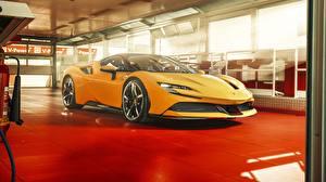 Fotos & Bilder Ferrari Gelb 2019 SF90 Stradale Autos