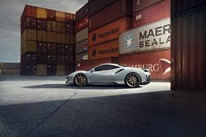 Bilder Ferrari Seitlich Graue Novitec 488 Pista Autos