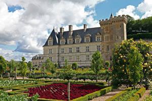 Wallpaper France Castles Gardens Landscape design Shrubs Chateau de Chaumont-sur-Loire Cities