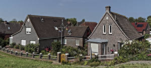Images Germany Building Design Mansion Fence Greetsiel Cities