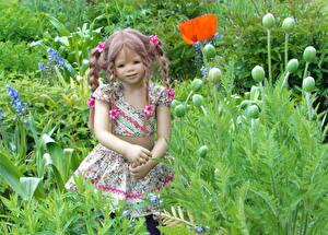 Hintergrundbilder Deutschland Parks Mohn Puppe Kleine Mädchen Grugapark Essen Blumen