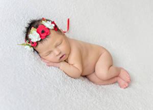 Bilder Baby Schlafende Kranz kind