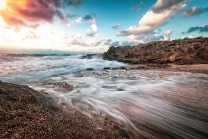 Fotos & Bilder Israel Küste Wasserwelle Himmel Wolke Haifa Natur