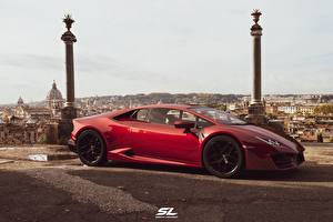 Picture Lamborghini Side Red CGI Huracan LP-580 by Sebastian Ladan Cars