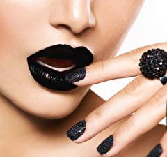 Hintergrundbilder Lippe Finger Maniküre Schwarz Mädchens