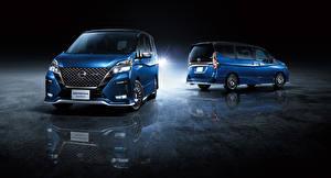 Hintergrundbilder Nissan Zwei Blau 2019 Serena Autech automobil