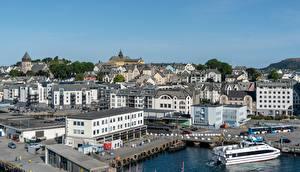 Fotos Norwegen Haus Schiffsanleger Alesund, The og Romsdal Städte