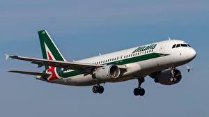 Bilder Verkehrsflugzeug Airbus Flug A320-214 Luftfahrt