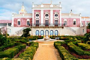 Fotos & Bilder Portugal Garten Springbrunnen Palast Strauch Pousada Palacio De Estoi Faro Städte