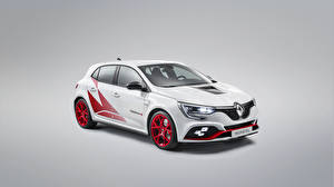 Pictures Renault Tuning Gray background White  Cars