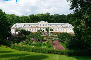 桌面壁纸,,俄罗斯,圣彼得堡,公园,喷泉,宮殿,设计,灌木,草地,Peterhof,大自然,城市