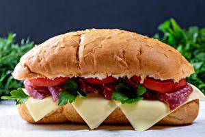 Bilder Sandwich Brötchen Käse Wurst