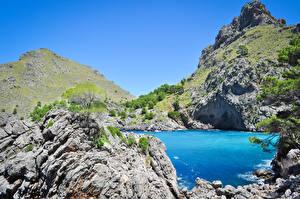 Hintergrundbilder Spanien Bucht Felsen Sa Calobra Bucht in Palma de Mallorca Natur