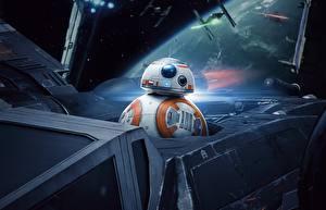 Wallpapers Star Wars: The Last Jedi Robot BB8 Movies