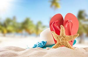 Image Starfish Summer Flip-flops Sand Hat
