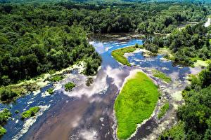 Bilder Vereinigte Staaten Wälder Küste Von oben Kost Minnesota Natur