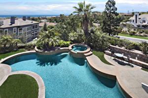 Fotos USA Gebäude Schwimmbecken Palmengewächse Laguna Niguel