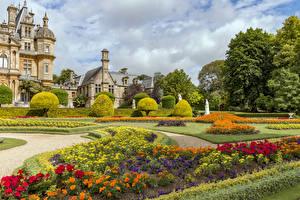 Bilder Vereinigtes Königreich Garten Rasen Design Strauch Waddesdon Manor gardens Natur