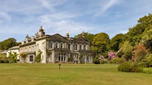 Hintergrundbilder Vereinigtes Königreich Haus Eigenheim Rasen Trengwainton House and Garden in Madron Städte