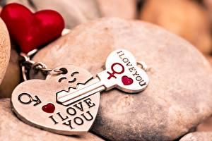 Bakgrunnsbilder Valentinsdagen Nøkkel Hjerte Suvenir I LOVE YOU