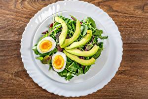 Fotos Gemüse Teller Eier Lebensmittel