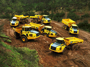 Pictures Volvo Trucks Yellow  automobile