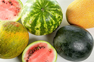 Hintergrundbilder Wassermelonen Melone Nahaufnahme Lebensmittel