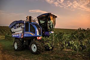Hintergrundbilder Landwirtschaftlichen Maschinen Acker 2018-19 New Holland Braud 9070L