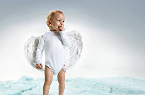 Hintergrundbilder Engeln Junge Säugling Lächeln