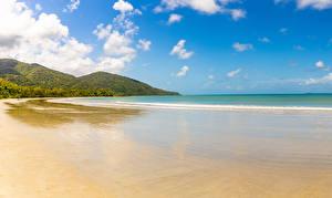 Images Australia Coast Waves Hill Nature