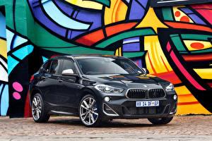 Sfondi desktop BMW Nero Metallico 2019 X2 M35i Auto