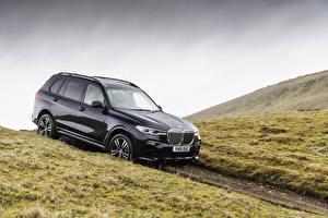 Sfondi desktop BMW Nero Metallizzato Familiare macchina 2019 X7 xDrive30d M Sport macchine