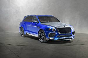 Wallpapers Bentley Blue Mansory, Bentayga Cars