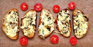 Hintergrundbilder Butterbrot Tomate Brot Käse Pilze
