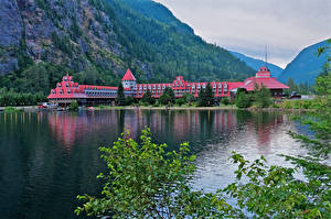 Bilder Kanada Gebirge See Hotel Ast Three Valley Lake Chateau British Columbia Natur