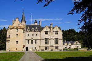 Tapety na pulpit Zamek Szkocja Brodie Castle miasto