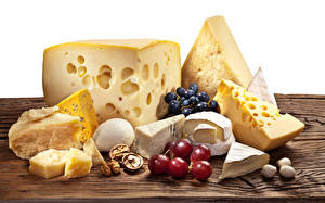 Image Cheese Grapes Nuts Wood planks Food