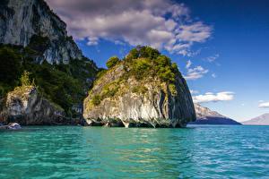 Bilder Chile Bucht Felsen Patagonia Natur