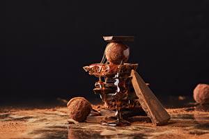 Fotos Schokolade Bonbon Honig Kakaopulver
