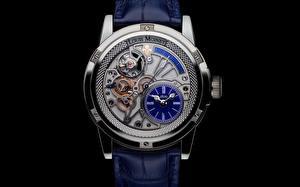 Hintergrundbilder Uhr Armbanduhr Hautnah Schwarzer Hintergrund Mechanik Louis Moinet Tempograph