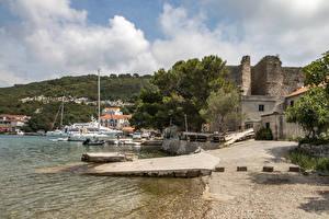 Pictures Croatia Houses Coast Pier Mljet Island Cities