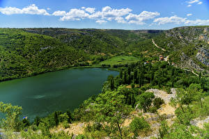Fotos Kroatien Park See Hügel Krka National Park Natur