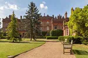 Bilder England Haus Parks Rasen Bank (Möbel) Fichten Hughenden Manor Städte